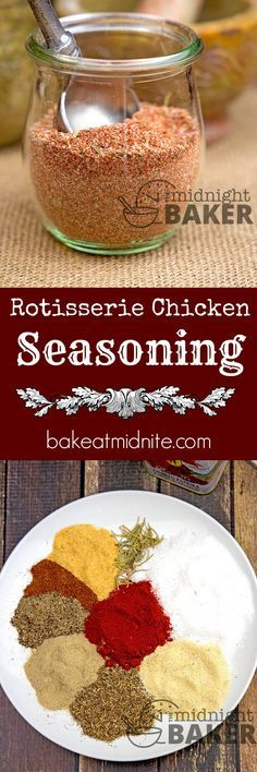 you can make your own delicious rotisserie chicken at home with this tasty seasoning.Now you can make your own delicious rotisserie chicken at home with this tasty seasoning. Homemade Spices, Homemade Seasonings, Comidas Paleo, Rotisserie Chicken Seasoning, Best Seasoning For Chicken, Parmesan Bratkartoffeln, Dry Rub Recipes, Meat Rubs, Recipe Mix