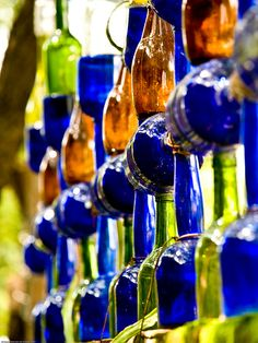 Wall of bottles - San Miguel de Allende - Mexico