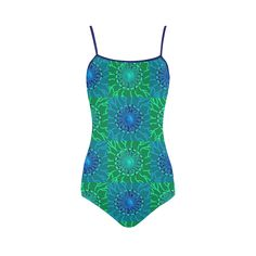 Ocean Veins Strap Swimsuit