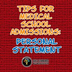 Medical school admissions tips: personal statement. Dr. Brett Ferdinand, author of The Gold Standard MCAT and former medical school admissions committee member, gives premeds some advice on personal statements in this video https://www.youtube.com/watch?v=qbdtYMMfXtI&list=PLAZha1Cf45dZoorY3S-iR5lol7avgtniO