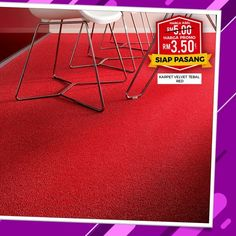 VALVET CARPET WILLGIVE YOY THE LOOK YOU WANT!! RM 3.50/SQFT SUPPLY ONLY Looking to revamp your office? Our#WESAVEYOUSAVESaleFor Thick Velvet Dark Grey Carpet & Thick Velvet Red Carpet will give... Dark Grey Carpet, Red Carpet, Office Carpet, Ad Home, Velvet, Office Rug, Home