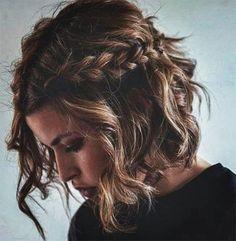 Nice braided hairstyles for medium length hair - Nice braids for medium length hair Beautiful braids for medium length hair (hair bob) 5317766684979 - Braids For Medium Length Hair, Medium Long Hair, Braids For Short Hair, Medium Hair Styles, Curly Hair Styles, Nice Braids, Short Hair Braid Styles, Short Curls, Dutch Braids