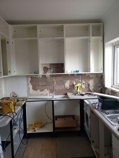 Original kitchen being removed  #Kitchen