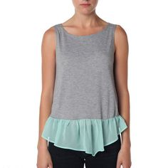 Two Tone Tank Gray Mint, $39, now featured on Fab.