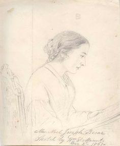 William Sidney Mount, 1861, Portrait of Mrs. Noel Joseph Becar