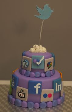 Social Media Cake- what will theyb think of next #SocialMediaCake #SocialMedia #cake