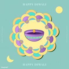 Happy Deepavali, the festival of lights background vector | premium image by rawpixel.com / Techi