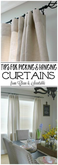 Hanging Drapes how to hang curtains | hanging curtains, hang curtains and learning