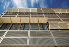 University of Potsdam with gold anodized, mobile lifting shutters | Architect: Böge Lindner K2