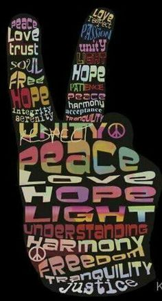 Hand ✌Peace Sign Typography