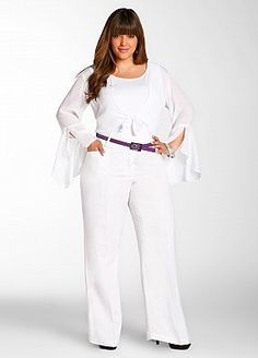 Ashley Stewart plus size - I was always taught to never wear white!