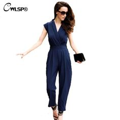 671955d3a9 Check it on our site CWLSP Women Fashion Temperament Jumpsuit  amp  Rompers  Women s Overall Sexy