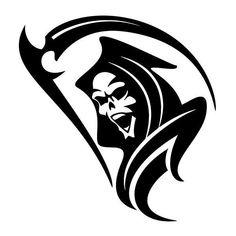 Reaper vinyl decal sticker for Car/Truck Window laptop ghost Tribal Tattoos, Skull Tattoos, Body Art Tattoos, Polynesian Tattoos, Grim Reaper Art, Grim Reaper Tattoo, Tatoo Santa, Skull Stencil, Skull Artwork