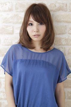 ☆Medium hair☆ yuzo hasegawa Hair Design(apish) シンプルにまとまりやすく、あつかいやすいミディアムヘア カット+カラー(9レベルアッシュベージュ) 2時間30分
