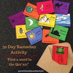 A 30 day Ramadan activity to connect our kids to the Qur'an inshaAllah!