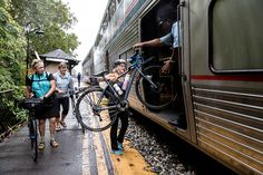 """Carry-on bike service on Amtrak's Capitol Limited, means riding the Great Allegheny Passage and C&O Canal trails has transformed from a """"Herculean effort to painless."""" Bike Path, Bike Trails, Weekend Trips, Plein Air, Mountain Biking, Touring, Places To Go, Bicycle, Gap"""