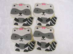 Forest Friends Sugar Cookies Raccoon by MartaIngros on Etsy, $28.00