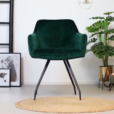 Green Desk, Dining Chairs, Dining Room, Velvet Fashion, Desk Chair, Home And Living, Soft Fabrics, Luxury, Furniture