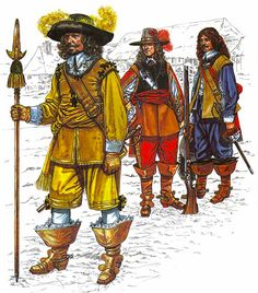 • Captain, Gamul's Regt. • Officers, Royalist foot