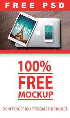 Free PSD Mockup | Ipad + Iphone on Behance