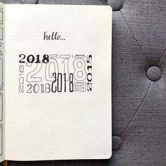 Bullet journal yearly cover page. | @bujo_blossoms