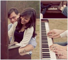 piano engagement pictures :) oh my gosh.please, future husband, play piano! Couple Photography, Engagement Photography, Wedding Photography, Piano Photography, Wedding Pics, Wedding Couples, Dream Wedding, Engagement Pictures, Engagement Shoots
