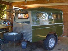 Truck Bed Trailer, Bug Out Trailer, Off Road Trailer, Trailer Build, Landrover Camper, Defender Camper, Land Rover Defender 110, Camper Caravan, Camper Trailers