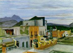 El Palacio by Edward Hopper. New Realism. cityscape