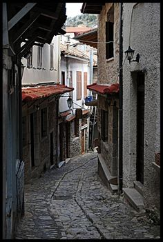 old picturesque alley at Dimitsana, Arkadia