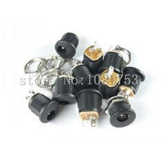 20pcs x DC Power Outlet Jack Socket 5.5x2.1mm Diameter 5.5mm Inner Pin 2.1mm