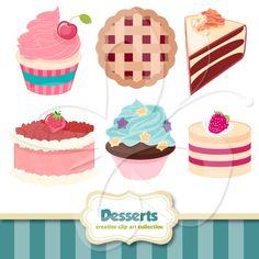 Dessert Clip Art Set $4