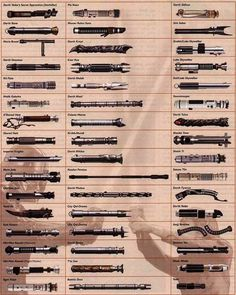 #lightsaber collection from all #starwars movies
