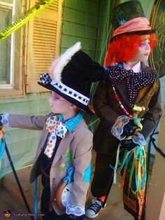 This web site is ALL homemade costumes! SO PERFECT!    ]Mad Hatter & Crazy Rabbit - Homemade costumes for kids