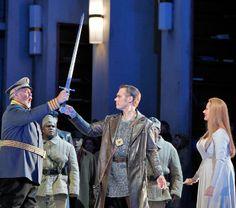Lohengrin Kristinn Sigmundsson, Brandon Jovanovich and Camilla Nylund, @san pan Francisco Opera  #Wagner #opera #singing #SanFrancisco    © Cory Weaver.