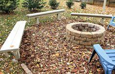 diy backyard benches
