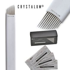 CRYSTALUM Microblading Eyebrow Blade 11 Pins Needles Tattoo Tattooing Blades Prongs Semi Permanent Make Disposable Needles Makeup For Single Use QUANTITY 10, 20,50 or 100 (5 Blades) ** You can get more details by clicking on the image. (As an Amazon Associate I earn from qualifying purchases)