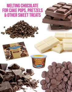 Great tips, tricks and advice for melting chocolate, perfect for cake pops, pretzels and more.  Even the best brands to buy!