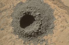 On April 29, Curiosity used its drill to bore a 2 centimeter hole into Windjana. This is only the third rock Curiosity has drilled into since landing on the red planet on Aug. 5, 2012. The grey color obviously extends deeper into the rock than just on its surface, and the powder created can provide a pristine rock sample for further analysis, helping mission scientists understand how the rock formed and under what environmental conditions. NASA/JPL-CALTECH