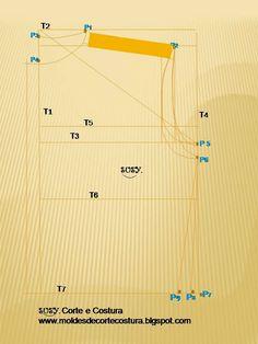 Medidas:                                                         Para traçar o molde de uma CAMISA, pegue aproximadamente um metro ou mais ...