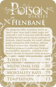 Poisonous Plants:  #Henbane.