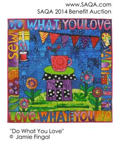 Art quilt by Jamie Fingal