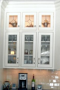 Leaded Glass Cabinet Door Panels - Step by step instructions for measuring your-face frame cabinets for cabinet doors that a Leaded Glass Cabinet Doors, Glass Kitchen Cabinets, Modern Wood Kitchen, New Kitchen Cabinets, Glass Decor, Wood Kitchen Cabinets, Glass Kitchen Cabinet Doors, Cabinet Decor, Glass Cabinet