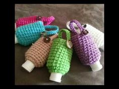 Rope Crafts, Diy Crafts, Diy Sanitisers, Hand Sanitizer Holder, Crochet Bags, Crocheting, Coasters, Pouch, Craft Ideas