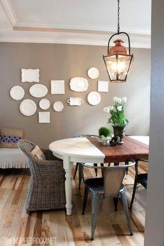 spring decor dining room