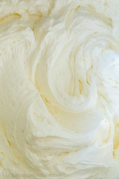 This American buttercream frosting recipe has just the right amount of sweetness and pipes beautifully and will cover a 9-inch layer cake, 24 cupcakes, and many sugar cookies! American Buttercream Frosting Recipe, Cake Frosting Recipe, Vanilla Buttercream Frosting, Cake Icing, Wedding Frosting Recipe, Crisco Frosting, Eat Cake, Vanilla Cake, Fluffy Frosting Recipes