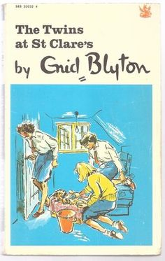 THE TWINS AT ST. CLARE'S by Enid Blyton 1971 Dragon P/B St. Clares School Book 1