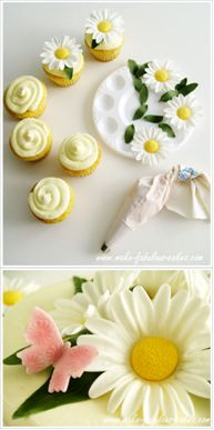 How to make four gum paste flowers.