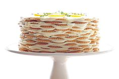 Meyer Lemon Thyme Icebox Cake Recipe - She Wears Many Hats