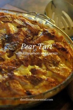 Pear Tart with Cinnamon and Cream