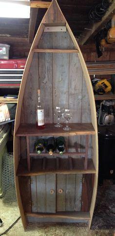Reclaimed Dry Bar / Wine Rack on Etsy, $500.00